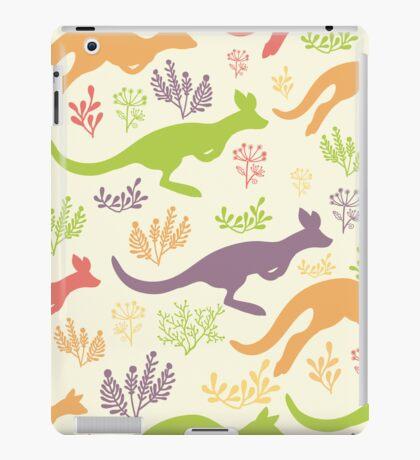 Jumping kangaroos pattern iPad Case/Skin