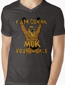 Mok Your World! Mens V-Neck T-Shirt