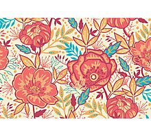 Bright garden pattern Photographic Print