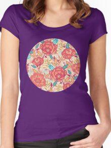 Bright garden pattern Women's Fitted Scoop T-Shirt