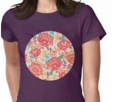 Bright garden pattern Womens Fitted T-Shirt