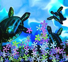 Fun With Sea Turtles by Tina Vaughn