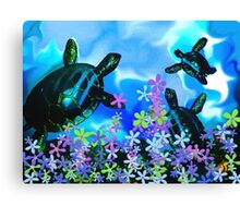 Fun With Sea Turtles Canvas Print