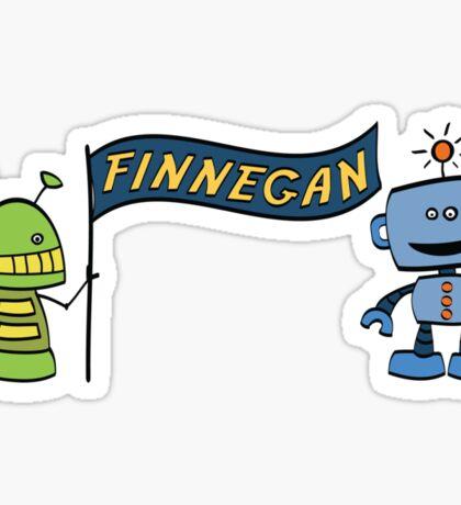 finnegan w robots Sticker