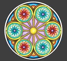 Portal Mandala - Print w/grey background by TheMandalaLady