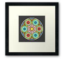 Portal Mandala - Print w/grey background Framed Print