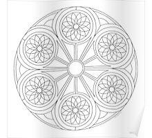 Portal Mandala - Print - Paint/Color Your Own Poster