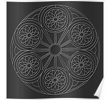 Portal Mandala - Print - white design Poster