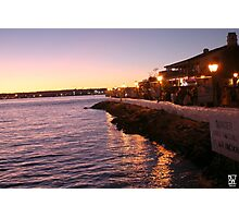 Sea Port Sun Set Photographic Print
