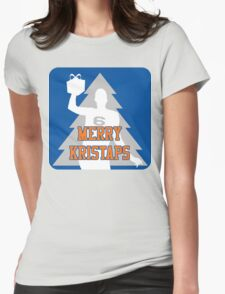 Merry Kristaps - Blue Womens Fitted T-Shirt