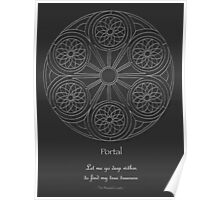Portal Mandala - Poster - White Design w/Message  Poster