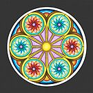 Portal Mandala - Card   w/Grey Background by TheMandalaLady