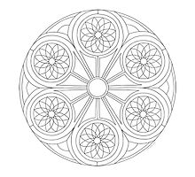 Portal Mandala - Coloring Card by TheMandalaLady