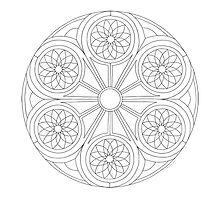 Portal Mandala - Coloring Card by TheMandalaLady