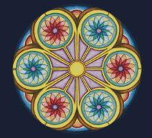 Portal Mandala T-Shirt - Full Color One Piece - Short Sleeve