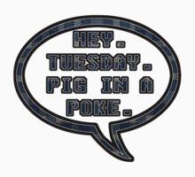 Pig In A Poke Blue by Rachael Michelle