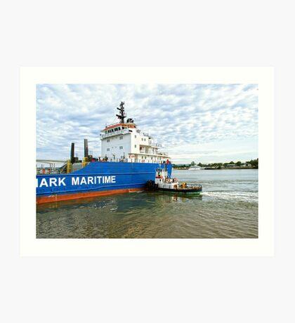 MAVIS the tugboat Art Print