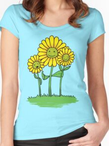 Flower Buds Women's Fitted Scoop T-Shirt