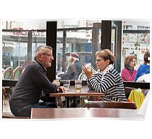 Philosophical Discussion Over a Beer in a Pub Poster