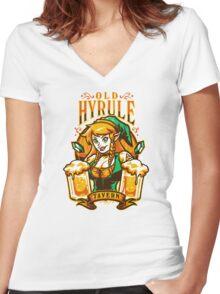 Old Hyrule Tavern Women's Fitted V-Neck T-Shirt