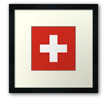 National Flag of Switzerland  Framed Print
