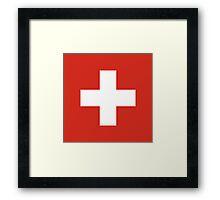 National Flag of Switzerland  Framed Print