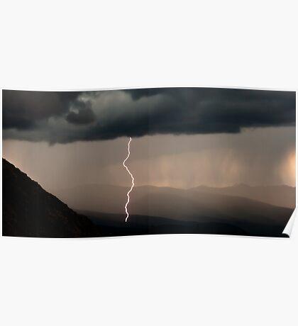 Summer Lightning Storm Poster