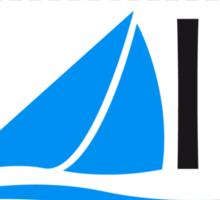 Sail Logo Design Sticker