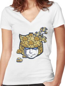 Bumble Tessellation Women's Fitted V-Neck T-Shirt