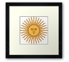 Argentina Sun of May  Framed Print