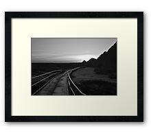 Badlands at Sunrise 3 Framed Print