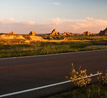 Badlands at Sunrise 4 by Audrey Farber