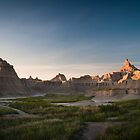 Badlands at Sunrise 5 (Spires) by Audrey Farber