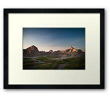 Badlands at Sunrise 5 (Spires) Framed Print