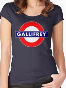 GALLIFREY METRO Women's Fitted Scoop T-Shirt