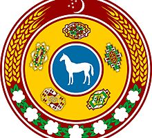 Emblem of Turkmenistan 1992-2000 by abbeyz71