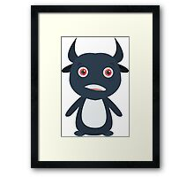 Cute little monster - Adobe Illustrator Framed Print