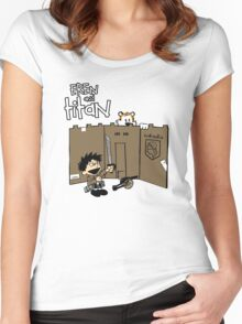 Attack on Calvin Women's Fitted Scoop T-Shirt