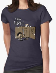 Attack on Calvin Womens Fitted T-Shirt