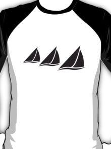 3 Sailing Boats Logo T-Shirt