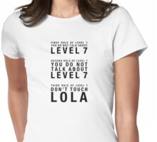 Rules of Level 7 (for light shirts) Womens Fitted T-Shirt