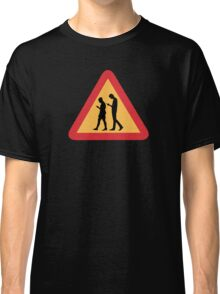 Mobile Zombies Warning, Road Sign, Sweden Classic T-Shirt
