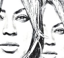 Beyonce Reflection Sticker