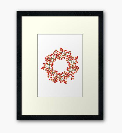 rowanberry wreath Framed Print