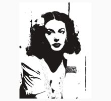 Hedy Lamarr Has A Flower In Her Hair by Museenglish