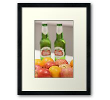 Take the healthy option?... Framed Print