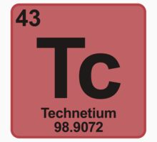 Element Tc Technetium by SignShop