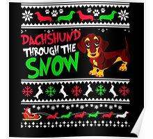 Dog Snow Christmas Poster
