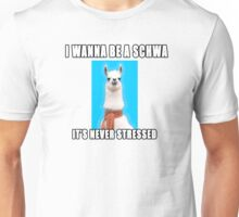 I wanna be a schwa:  It's never stressed. Unisex T-Shirt