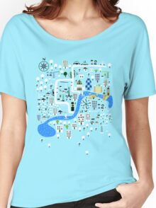Cartoon Map of London Women's Relaxed Fit T-Shirt